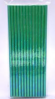 Трубочки коктейльные цвет зеленый 25 штук