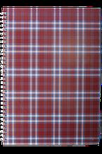 Блокнот SHOTLANDKA А4 , спираль, 48л клетка, картонная обложка, бордовая BM.2590-13