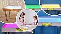 Стіл для малювання піском 70х50см Art&Play® вільха кольорове світло, фото 2