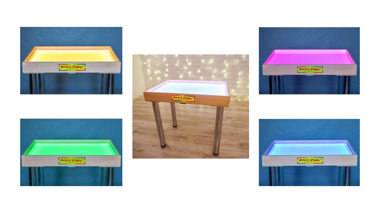 Стіл для малювання піском 70х50см Art&Play® вільха кольорове світло