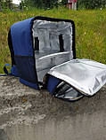 Рюкзак, термосумка для доставки їжі з відділенням для коробок на піцу 32*32 см, фото 3