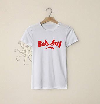 Летняя футболка Bad boy / Футболки с надписями и лого на заказ