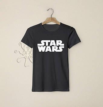 Черная футболка Star Wars / Футболки с надписями и лого на заказ