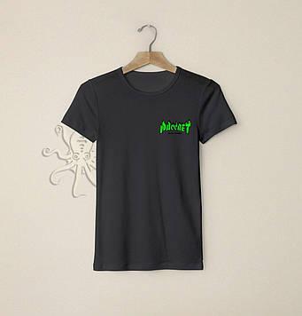 Черная мужская футболка Рассвет / Футболки с надписями и лого на заказ