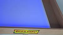 Стіл для малювання піском 70х50см Art&Play® вільха кольорове світло з відсіком для іграшок, фото 3