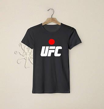 Черная мужская футболка ЮФС (UFC) / Футболки с надписями и лого на заказ