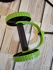 Тренажер Revoflex Xtreme домашний для пресса + 40 упражнений с эспандерами Черно-салатовый (Оригинальные фото), фото 2