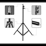 Студийная фото стойка для освещения 70-210см для кольцевой лампы . Опт, фото 3