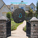 Беспроводной  водонепроницаемый дверной звонок KERUI M525. Черный., фото 5