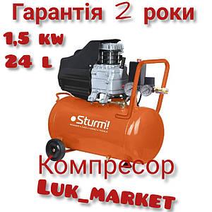 Воздушный компрессор Sturm AC9315 1.5 кВт 24л