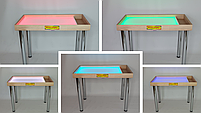 Стіл для малювання піском 100х60см Art&Play® ясен з відсіком для іграшок, фото 2