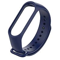 Силиконовый темно-синий ремешок на фитнес трекер Xiaomi mi band 4 / 3 браслет аксессуар замена