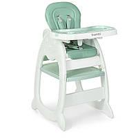 Раскладной стульчик и столик для кормления «Bambi» M 3612-5 для девочки или мальчика цвет мятный