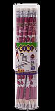 Карандаш графитовый HB с ластиком LOVE KIDS Line  ZB.2301-20
