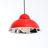 Потолочный светильник купол Loft  [ BELL ]  красный  / хром, фото 1