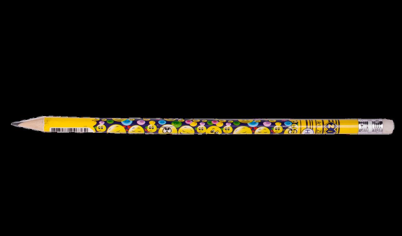 Олівець графітовий HB з гумкою EMOTIONS,KIDS Line ZB.2308-20