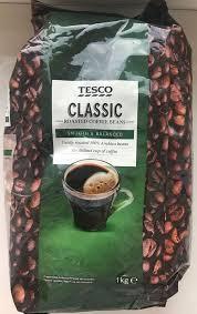 Кофе в зернах  Tesco Classic 100% Arabika 1 кг