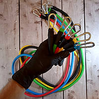 Набор трубчатых эспандеров для упражнений фитнеса (Живые фото)