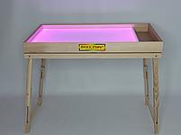 Световой стол-трансформер 100х60см Art&Play® ясень с отсеком для игрушек, фото 2