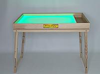 Световой стол-трансформер 100х60см Art&Play® ясень с отсеком для игрушек, фото 3