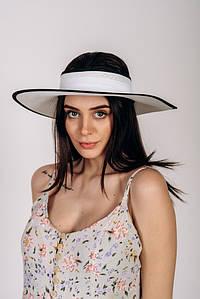 Шляпка широкополая без тульи оптом Артикул SHL 2015 белая