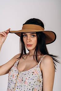 Шляпка широкополая без тульи оптом Артикул SHL 2015 капучиновая