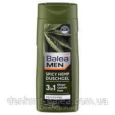 Мужской гель для душа с экстрактом конопли  Balea Men Spicy Hemp 3 in1 300 мл