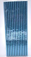 Трубочки коктейльные бумажные цвет аквамариновый перламутр 25 штук