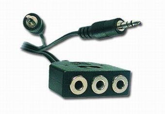 Кабель Cablexpert CC-MIC-1 Удлинитель для микрофона и наушников литой 1м