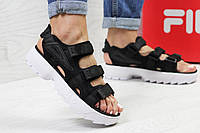 Босоножки женские Fila Disruptor Sandal в стиле Фила черно-белые