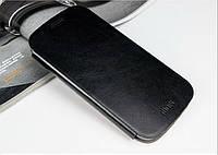 Кожаный чехол книжка MOFI для Motorola Moto G3 чёрный