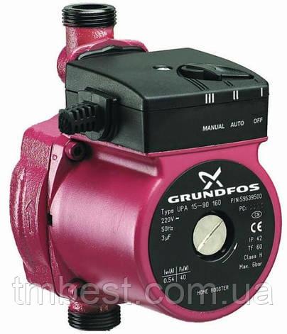 Насос циркуляционный Grundfos 25-60-180 +комплект гаек 25 мм +кабель питания, фото 2