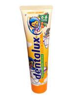 Немецкая детская зубная паста Dentalux Смелый Апельсин