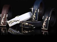 Мужской кожаный ремень Jaguar. Код : Р7, фото 5
