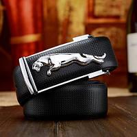Мужской кожаный ремень Jaguar. Код : Р7, фото 6