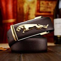 Мужской кожаный ремень Jaguar. Код : Р7, фото 4