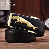 Мужской кожаный ремень Jaguar. Код : Р7, фото 7