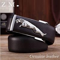 Мужской кожаный ремень Jaguar. Код : Р7, фото 8