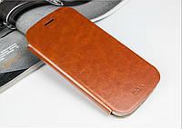 Кожаный чехол книжка MOFI для Motorola Moto G3 коричневый
