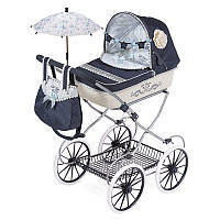 Коляска 81020  для куклы, 68-42-81см, классика, сумка, корзинка,зонт, в кор-ке,61,5-36,5-15,5см