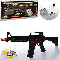 Автомат M16-4+  р/у, аккум, 70см, вод. пули, очки, USBзарядное, в кор-ке,75-31-8см