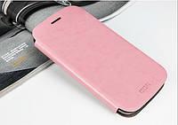 Кожаный чехол книжка MOFI для Motorola Moto G3 розовый