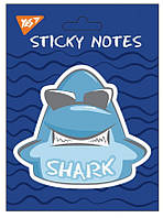 "Бумага с липким слоем YES фигурная ""Shark"", 104*93мм, 40 лист"