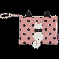 Папка для тетрадей А4 PUSSY CAT, 24x28x1,5 см, розовая (декор: кот с подвижным хвостом)ZB.702502