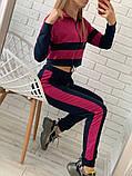 Женский спортивный костюм Цвет - горчица, малина, голубой Размер - 42 ,44 ,46, 48, фото 2
