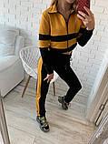 Женский спортивный костюм Цвет - горчица, малина, голубой Размер - 42 ,44 ,46, 48, фото 6