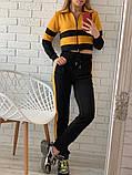 Женский спортивный костюм Цвет - горчица, малина, голубой Размер - 42 ,44 ,46, 48, фото 8