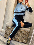 Женский спортивный костюм Цвет - горчица, малина, голубой Размер - 42 ,44 ,46, 48, фото 9