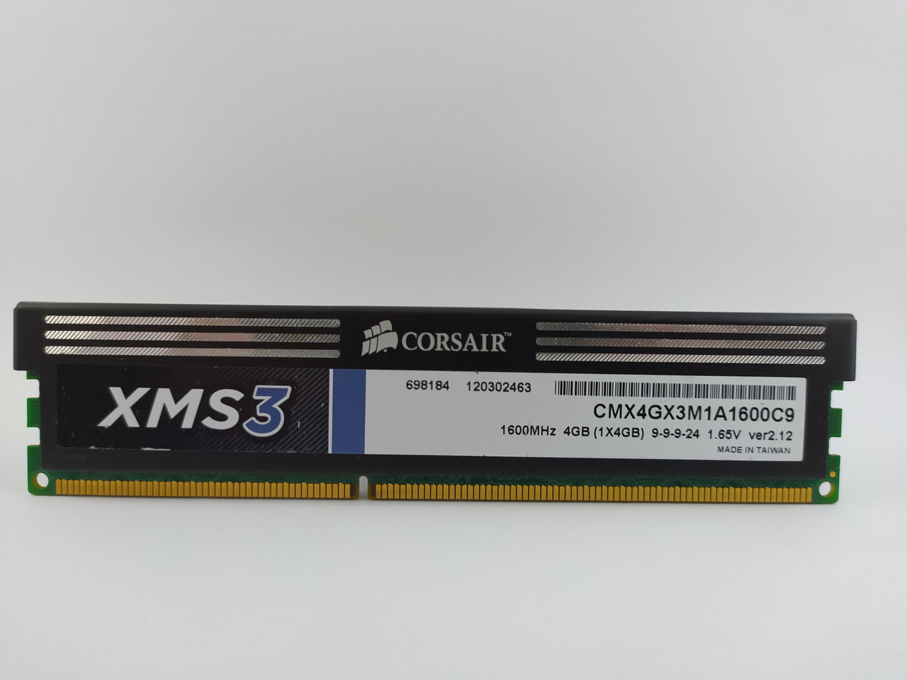 Оперативная память Corsair XMS3 DDR3 4Gb 1600MHz PC3-12800 (CMX4GX3M1A1600C9) Б/У