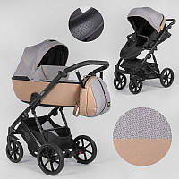 Детская коляска 2 в 1 Expander DEXO D-36086 цвет Camel, водоотталкивающая ткань + эко-кожа